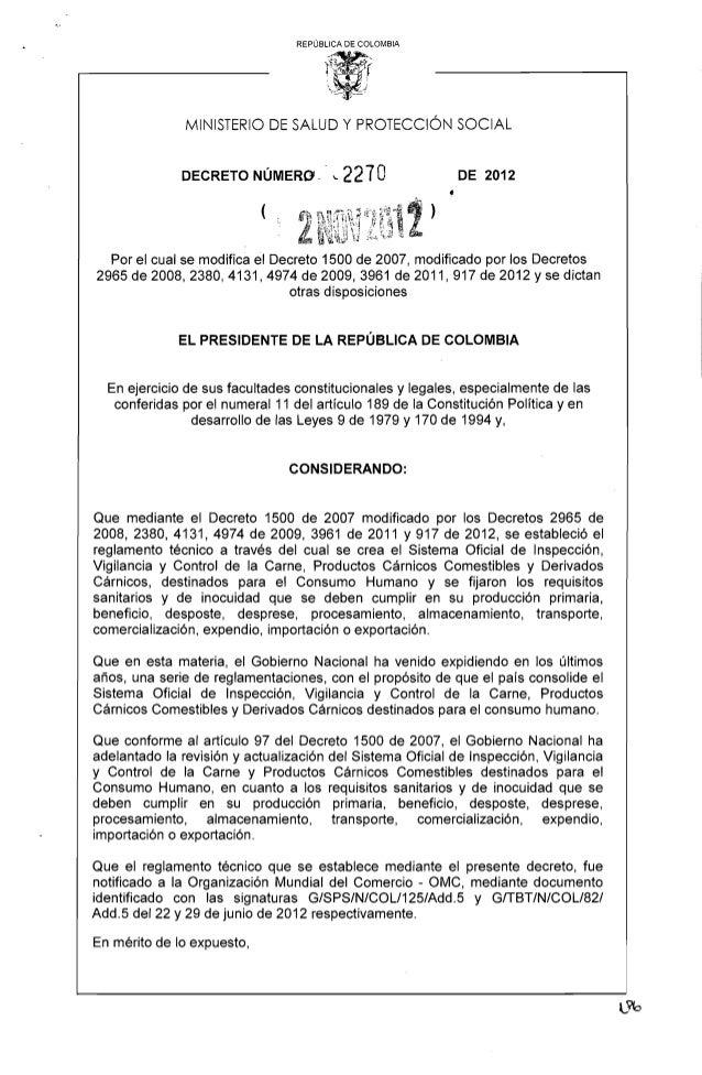 Decreto 2270