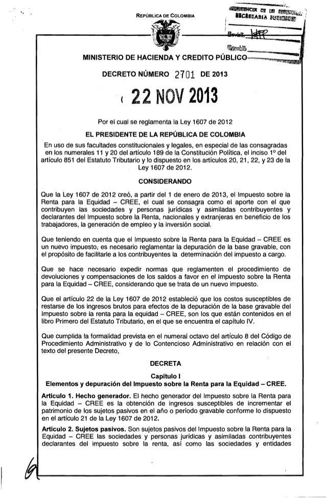 """REPÚBLICA DE COLOMBIA  ......  """"~~la; ~ ~""""""""""""""""""""_uu._ 1I )4  MINISTERIO DE HACIENDA Y CREDITO PÚBLlCO--,.""""...""""""""~""""!""""!'I,,~=,~..."""