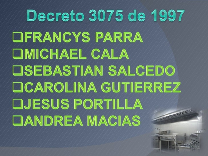 DECRETO 3075