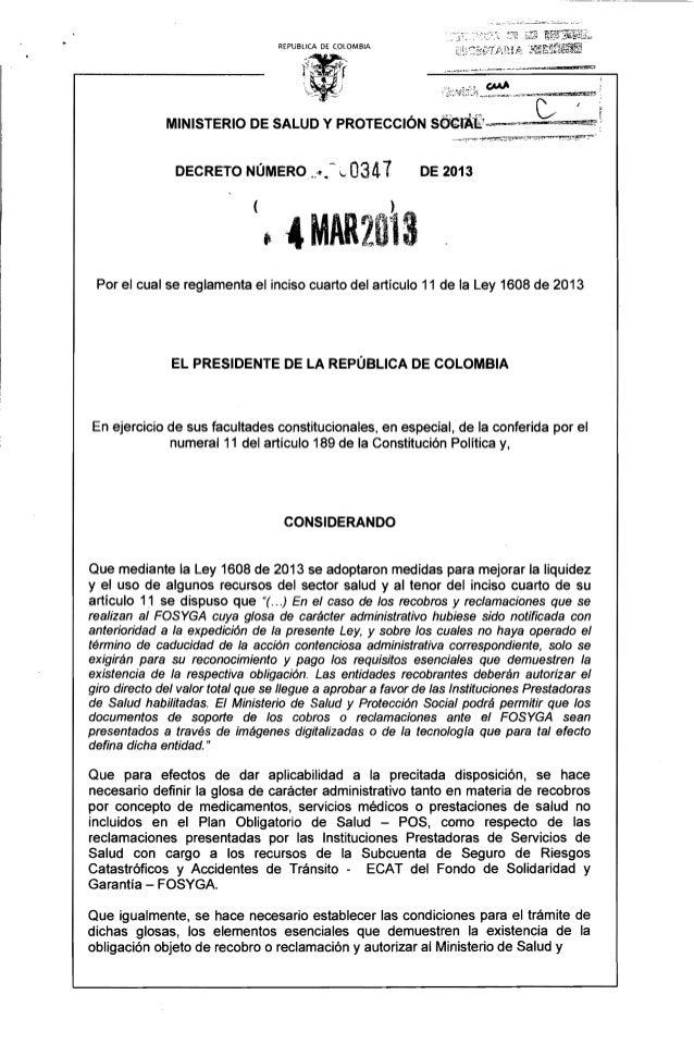 "• ,' • .:- ,.' "".~, :~ -0-' ••~__.,~~..~ _ : ....;~~ ~._ •• _"", REPUBlICA DE COLOMBIA DECRETO NÚMERO .:l! •.~ ~. 0341 DE 2..."
