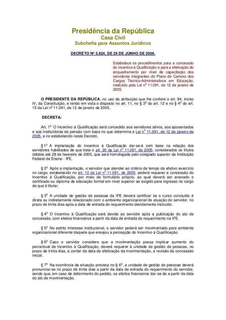 Presidência da República                                        Casa Civil                         Subchefia para Assuntos...