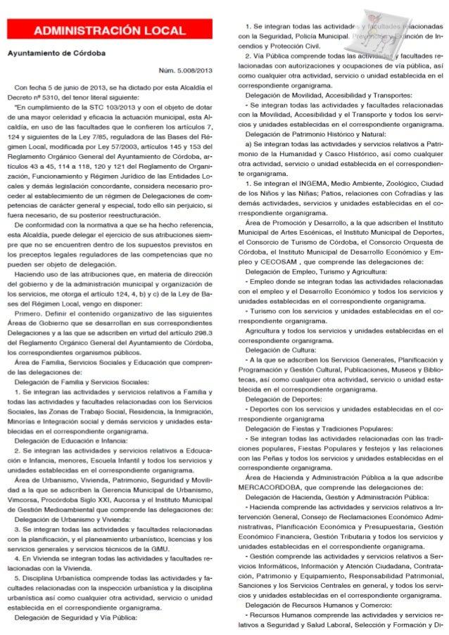 Decreto Alcaldía de Córdoba 5310