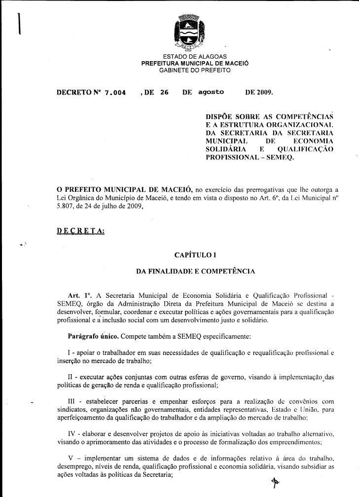 Decreto 7.004 SEMEQ