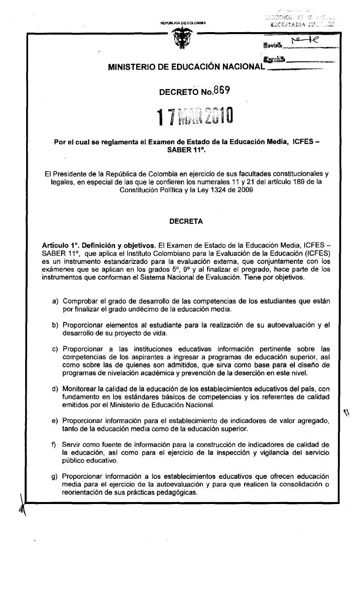 .                                      REPúBLICA DECa...OMBlA                          MINISTERIO DE EDUCACION NACIONAL   ...