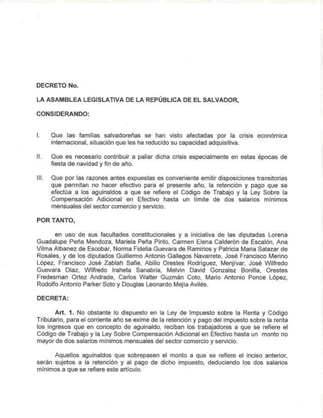 Decreto aguinaldo 2013