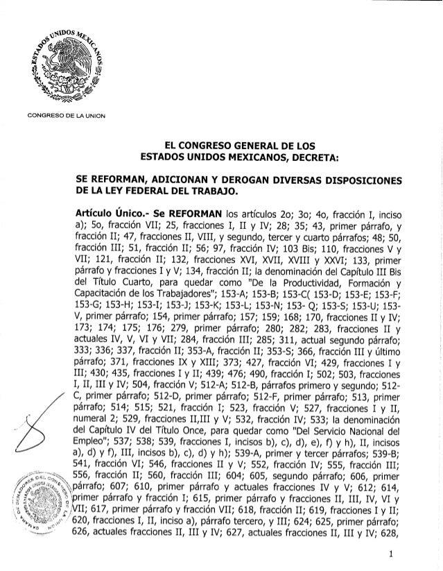 Decreto aprobado lft 20121113