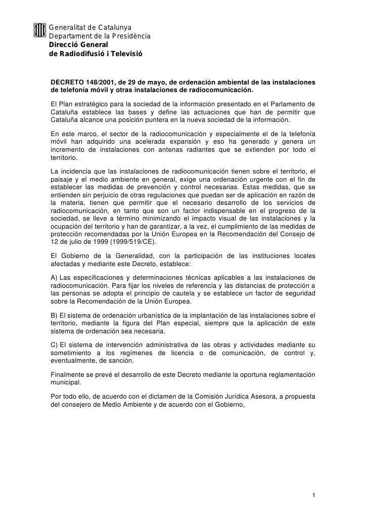 Decreto De Cataluna