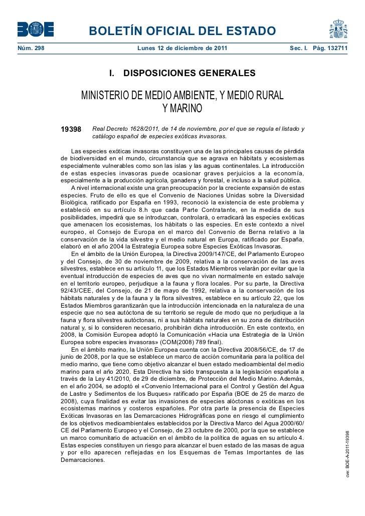BOLETÍN OFICIAL DEL ESTADONúm. 298                               Lunes 12 de diciembre de 2011                            ...