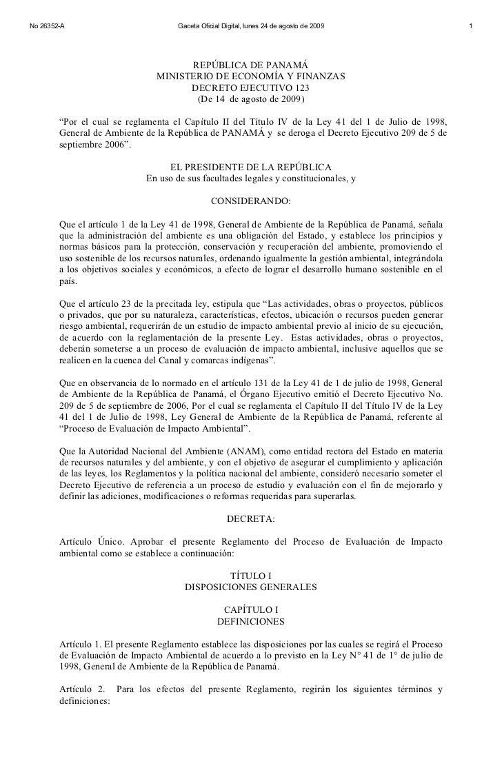 No 26352-A                            Gaceta Oficial Digital, lunes 24 de agosto de 2009                     1            ...