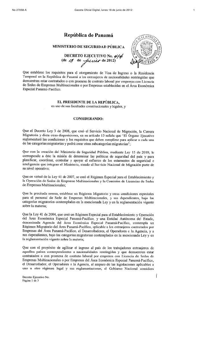 No 27058-A   Gaceta Oficial Digital, lunes 18 de junio de 2012   1