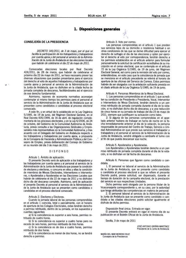 Decreto elecciones 22 5-11