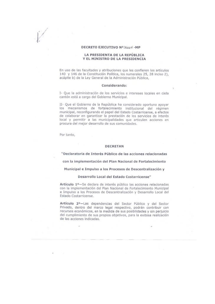 Decreto ministerio descentralización  2