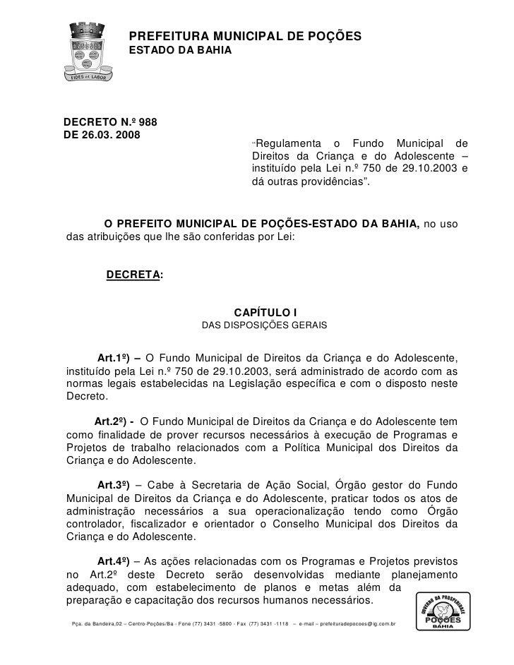Decreto n° 988 de 26.03