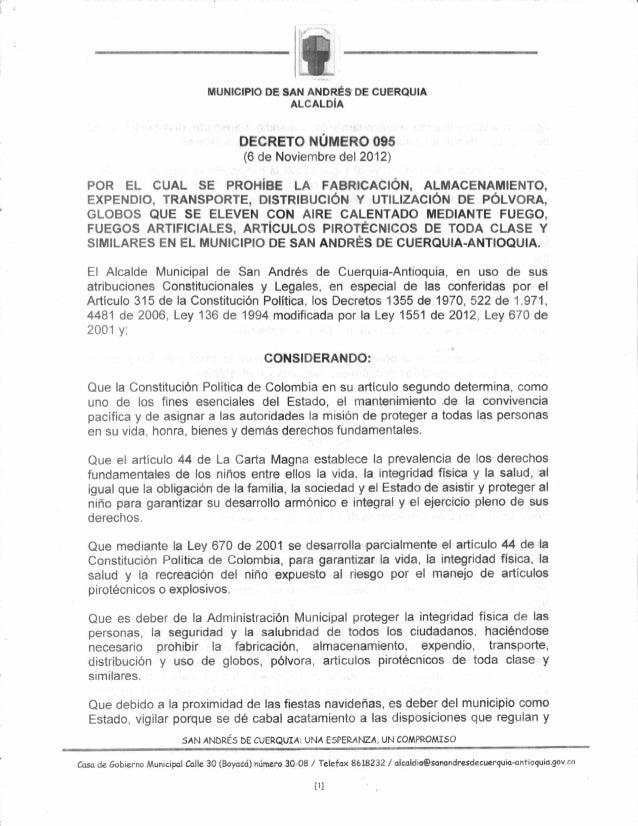 Decreto prohibición pólvora