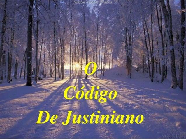 O Código De Justiniano