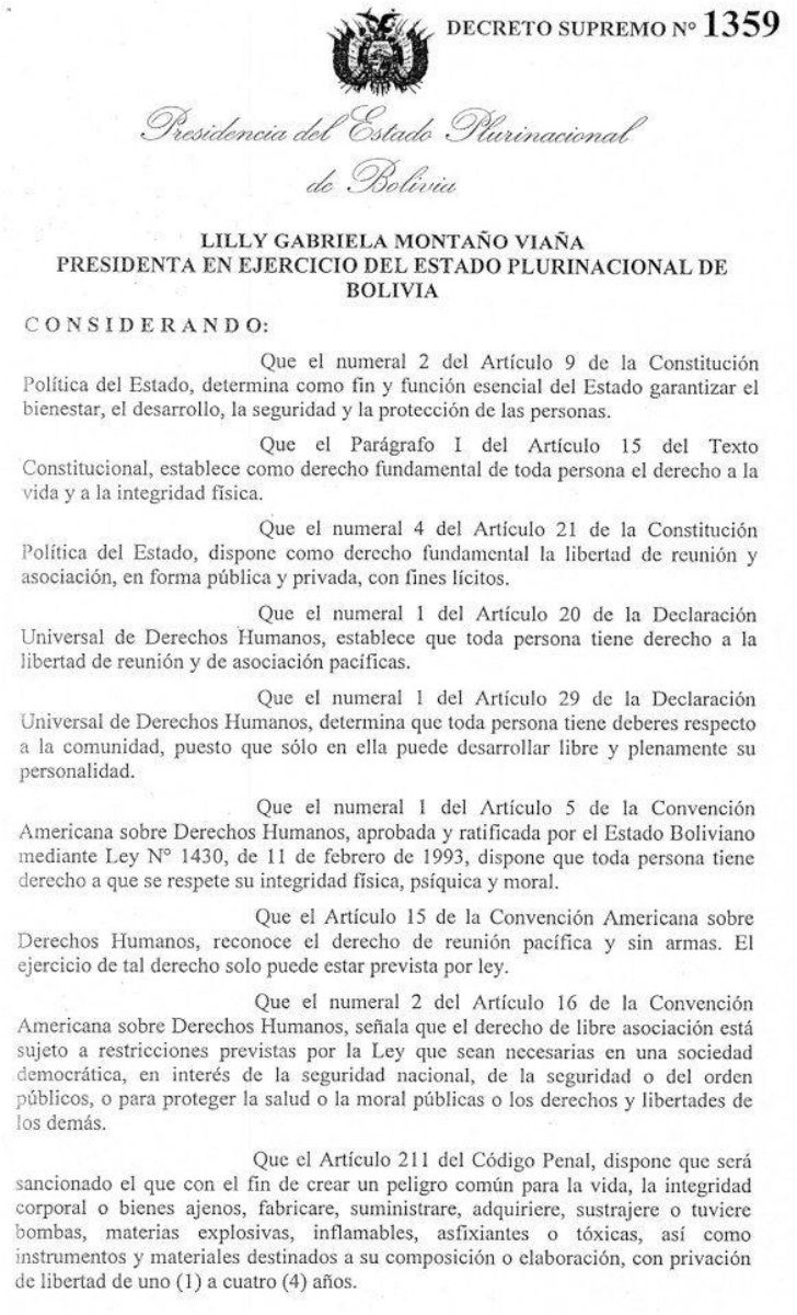 Decreto Supremo 1359 - uso explosivos
