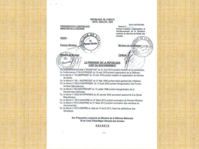 Decret portant creation, organisation et fonctionnement de la dcssa