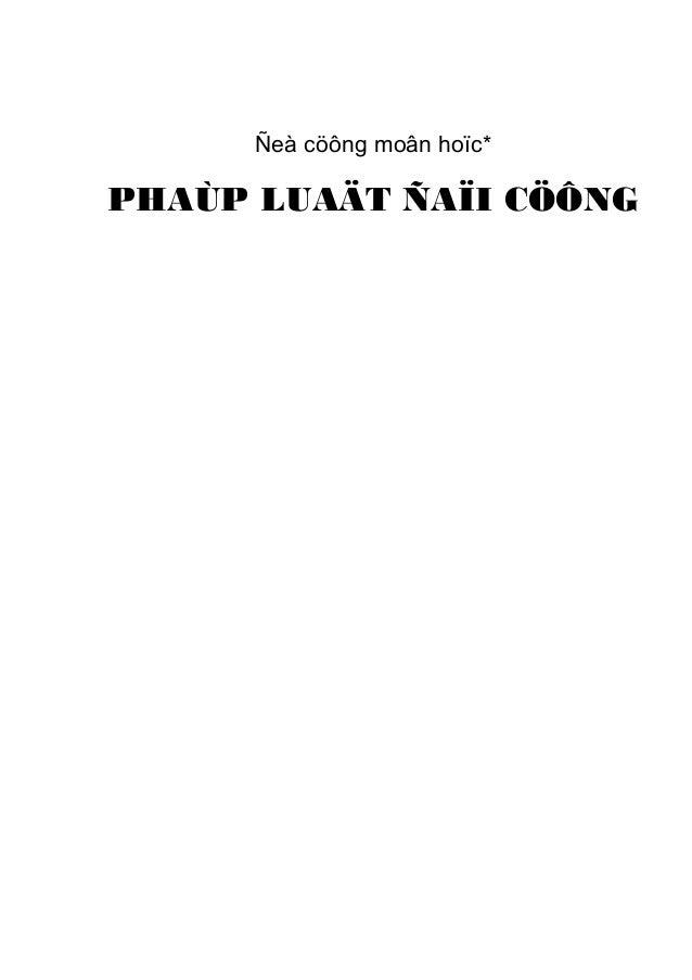 Ñeà cöông moân hoïc*PHAÙP LUAÄT ÑAÏI CÖÔNG