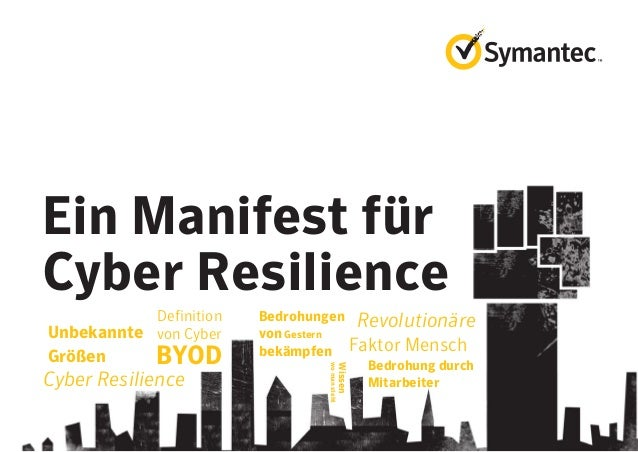 Ein Manifest für Cyber Resilience