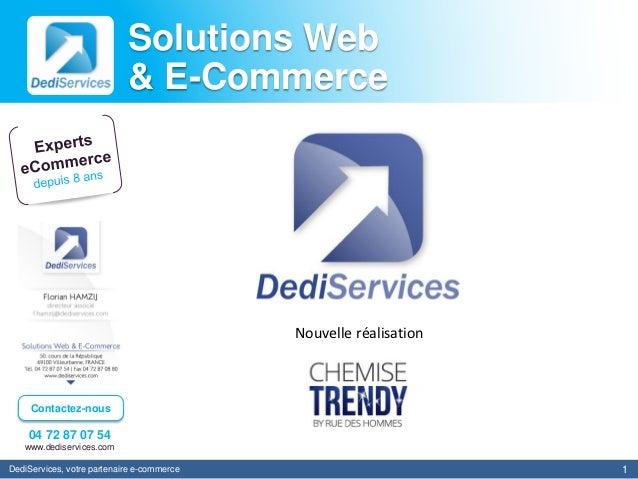 Solutions Web                            & E-Commerce                                            Nouvelle réalisation     ...