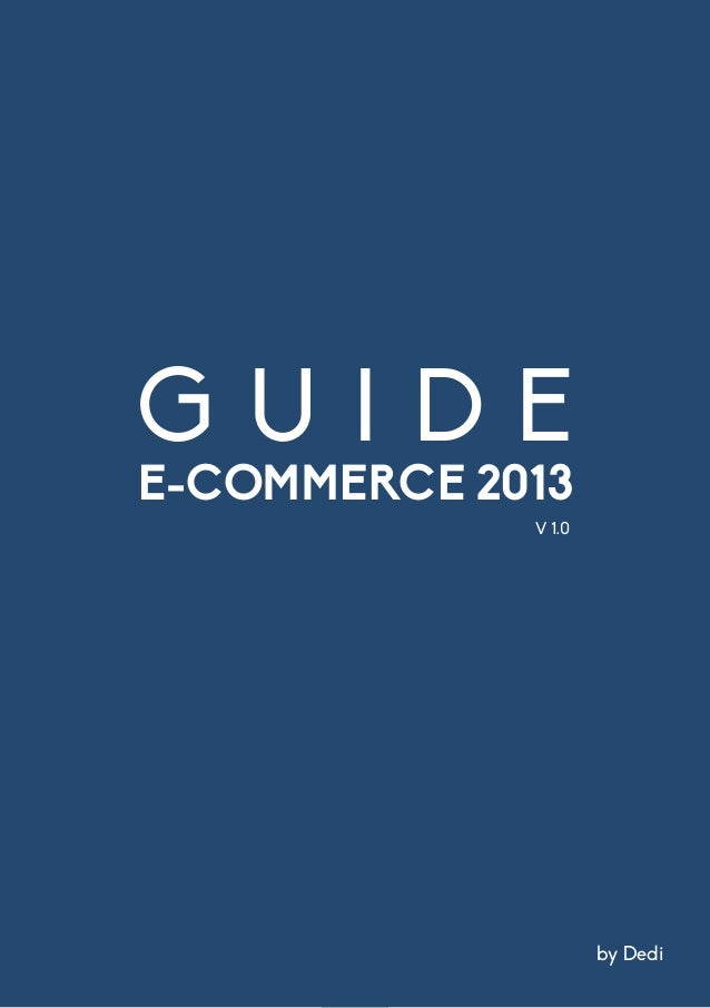 Guide E-Commerce by Dedi