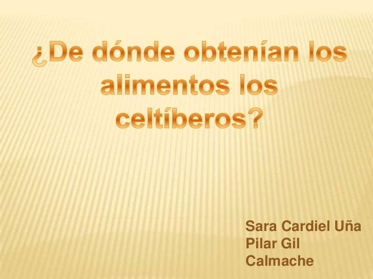 ¿De dónde obtenían los alimentos los celtíberos?<br />Sara Cardiel Uña<br />Pilar Gil Calmache<br />