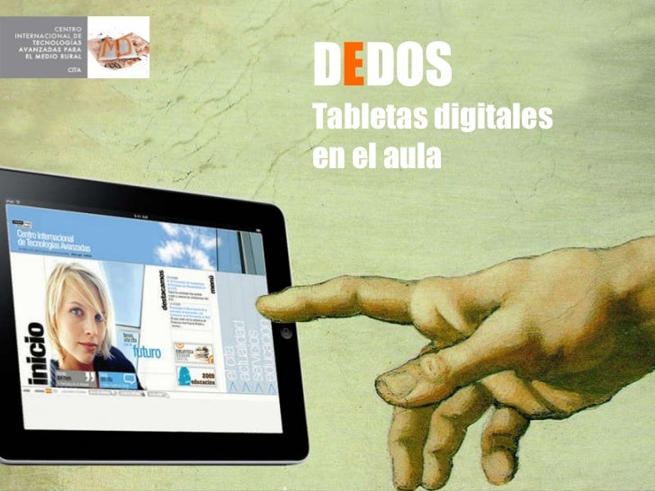 D E DOS Tabletas digitales  en el aula