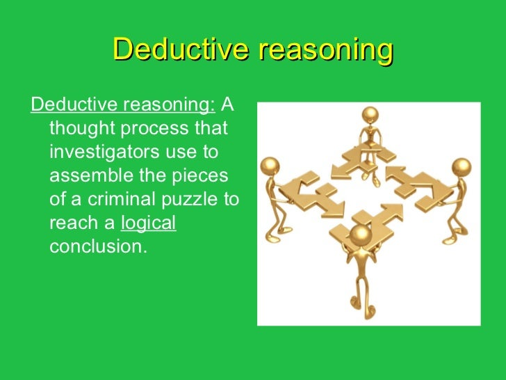 deductive reasoning in an essay