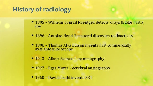 Did You Know? A Step Back in Time to Radiology History! – tnhess5