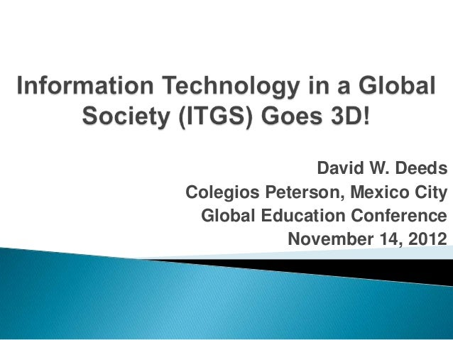 David W. Deeds: Global Education Conference 2012