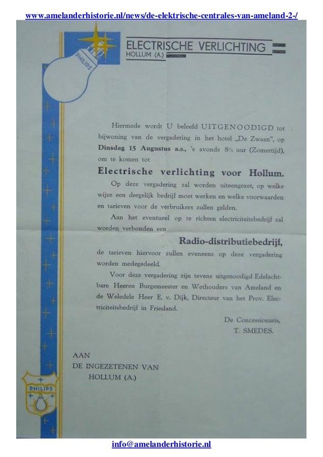 www.amelanderhistorie.nl/news/de-elektrische-centrales-van-ameland-2-/ info@amelanderhistorie.nl