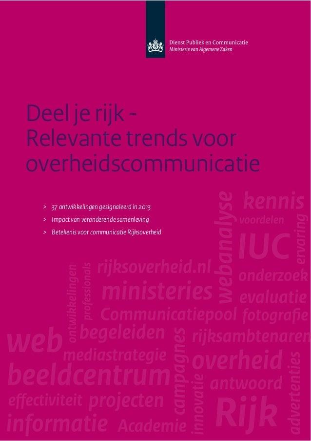 Deel je rijk - Relevante trends voor overheidscommunicatie