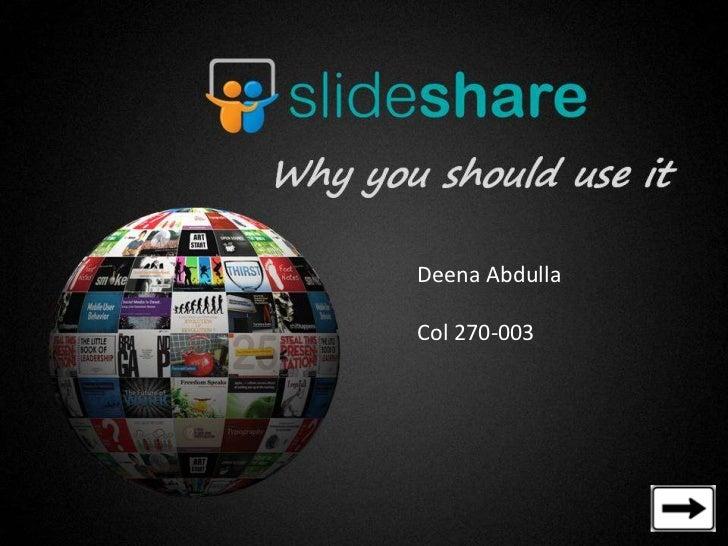 Deena AbdullaCol 270-003