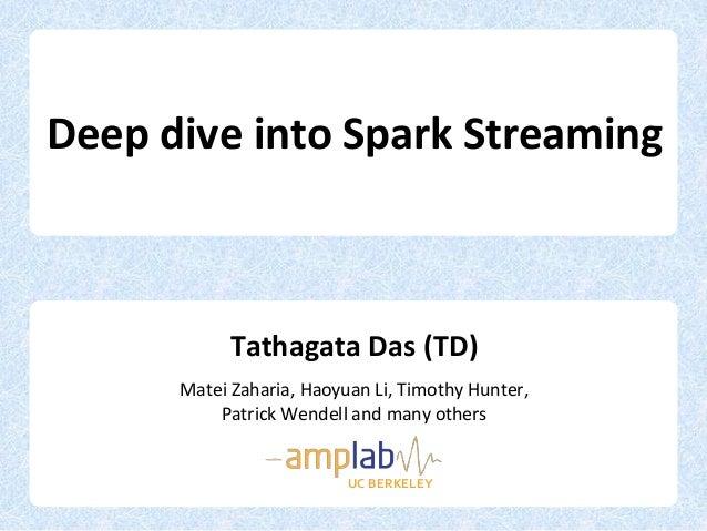Deep Dive with Spark Streaming - Tathagata  Das - Spark Meetup 2013-06-17
