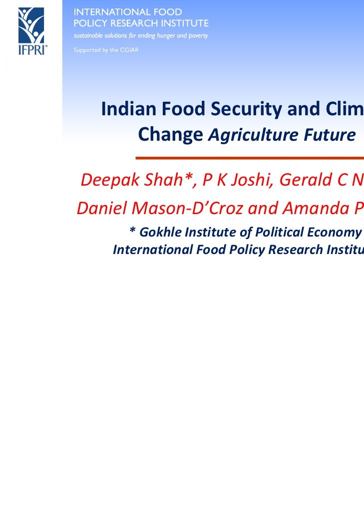 Deepak Shah — India's Food Security and Climate Change