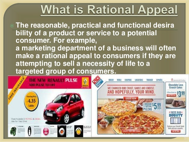 Rational Ads - Advertising Appeals