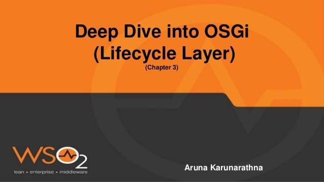 Deep Dive into OSGi (Lifecycle Layer) (Chapter 3) Aruna Karunarathna