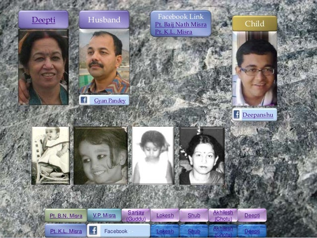Facebook LinkDeepti               Husband                  Pt. Baij Nath Misra              Child                         ...