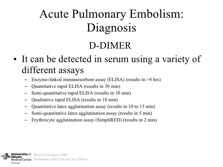 nice guidelines pulmonary embolism investigation