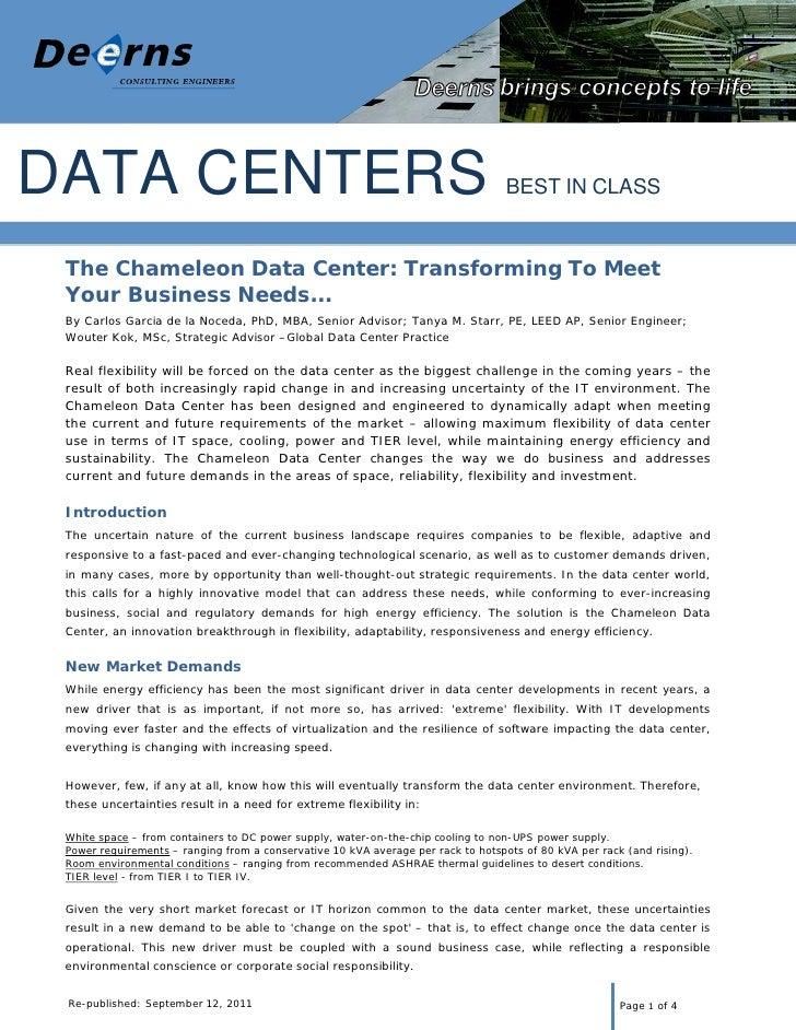 Deerns Data Center Chameleon 20110913 V1.1