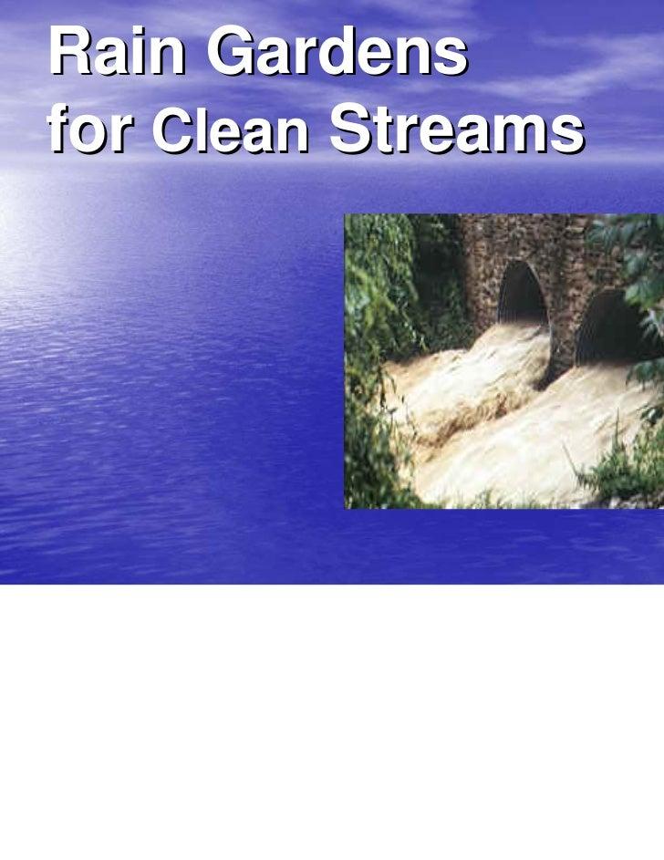 Rain Gardensfor Clean Streams