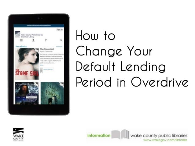 How to Change Your Default Lending Period in Overdrive