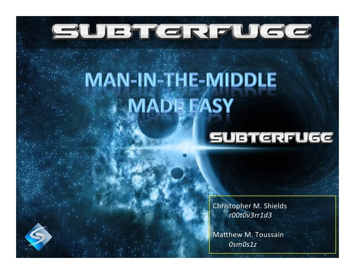 DefCon 2012 - Subterfuge - Automated MITM Attacks