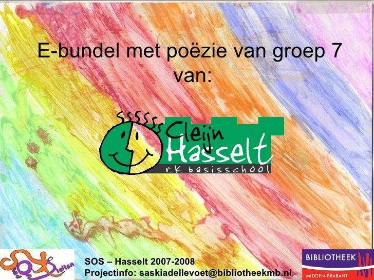 PoëzE- Bundel SoS Markant Cleijn  Hasselt