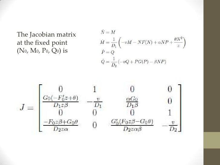 What is you opinion on the Jacobian Matrix and bifurcation?