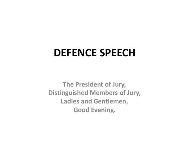 Thesis of a speech