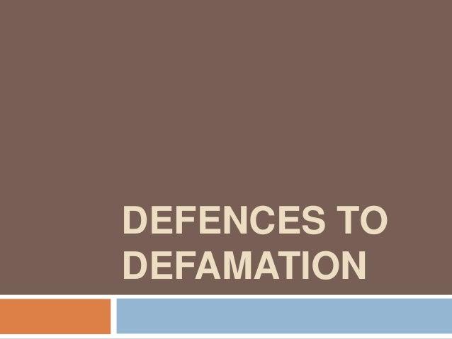 Defences to defamation