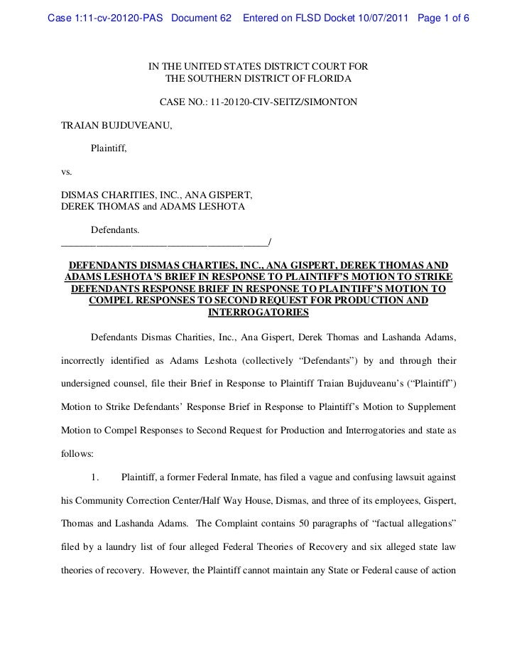 Case 1:11-cv-20120-PAS Document 62             Entered on FLSD Docket 10/07/2011 Page 1 of 6                       IN THE ...