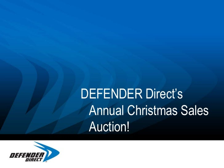 DEFENDER Direct's Annual Christmas Sales Auction! <br />