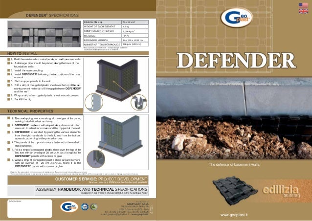 DEFENDER® SPECIFICATIONS                                                                                                  ...